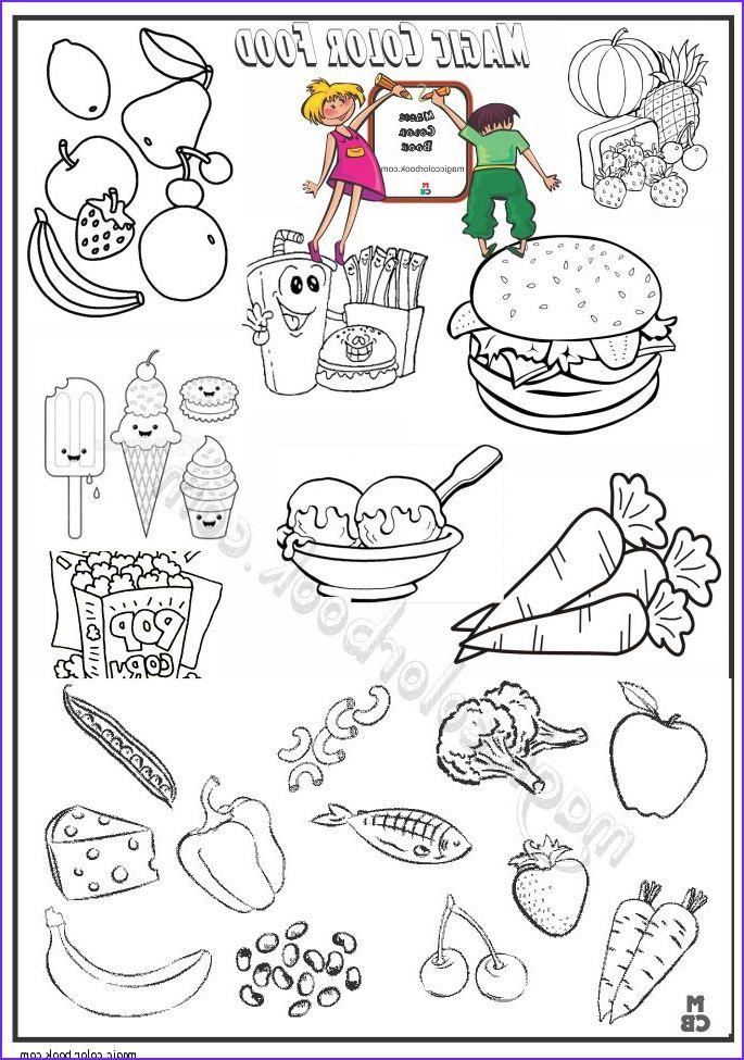 Food Coloring Book Cute Kawaii Food Coloring Pages At