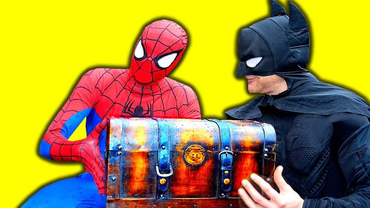 SPIDERMAN and Batman Treasure at Castle - Spider-man Fun Superhero Movie...