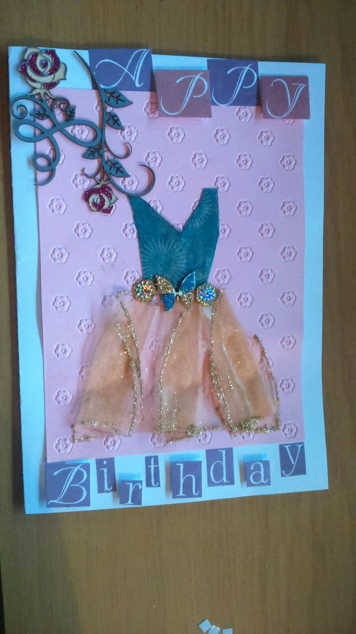 Butterfly dress birthday card
