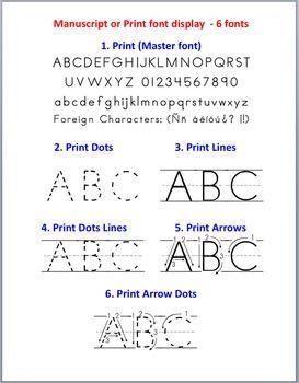 e9d0a55198e3301374c36f8a4b3f82d8  kindergarten writing preschool literacy - Dotted Line Font For Kindergarten