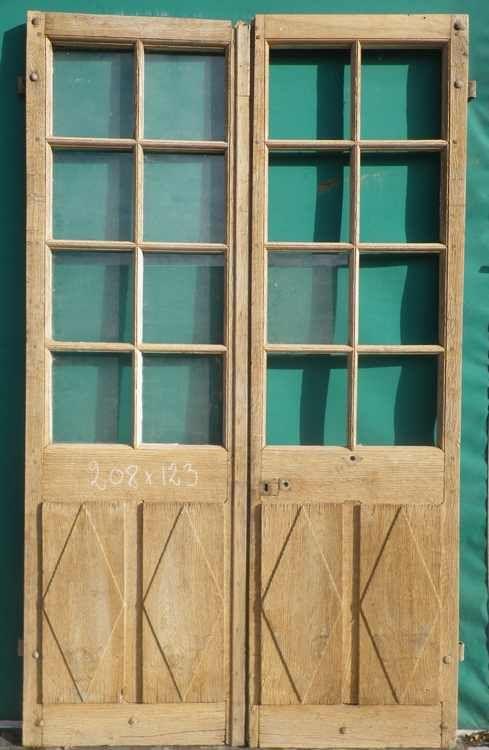 C2va10 porte d 39 interieur 2 vantaux vitree d co for Deco porte vitree