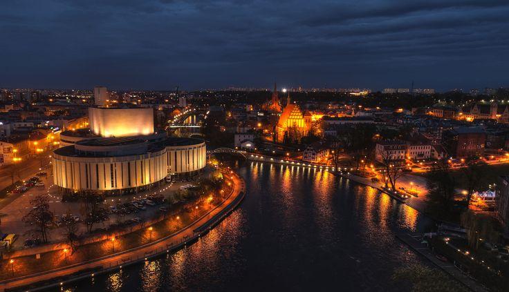 Bydgoszcz wieczorową porą