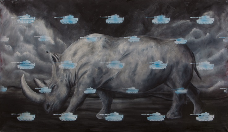 Pittjes Hitschfeld - Evolution    140 × 240,oil on canvas     http://www.saatchionline.com/pittjes