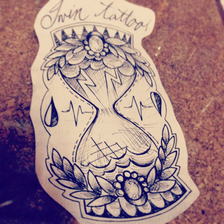Hourglass tattoo design #hourglass