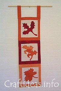 Wall Hanging with Leaves | AllFreeSewing.comWall Hanging