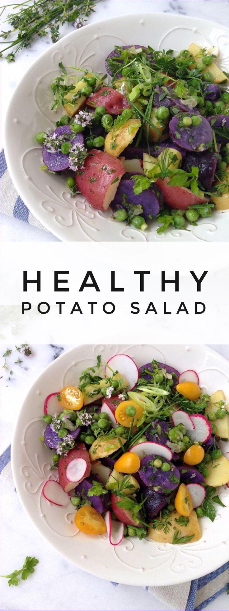 Healthy Potato Salad Recipe | CiaoFlorentina.com @CiaoFlorentina