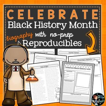 Black History MonthThis no-prep Black History Month pack is perfect to teach your students all about important African American heroes. This pack has 4 biographies to help you teach about African Americans and includes critical thinking reflection questions.