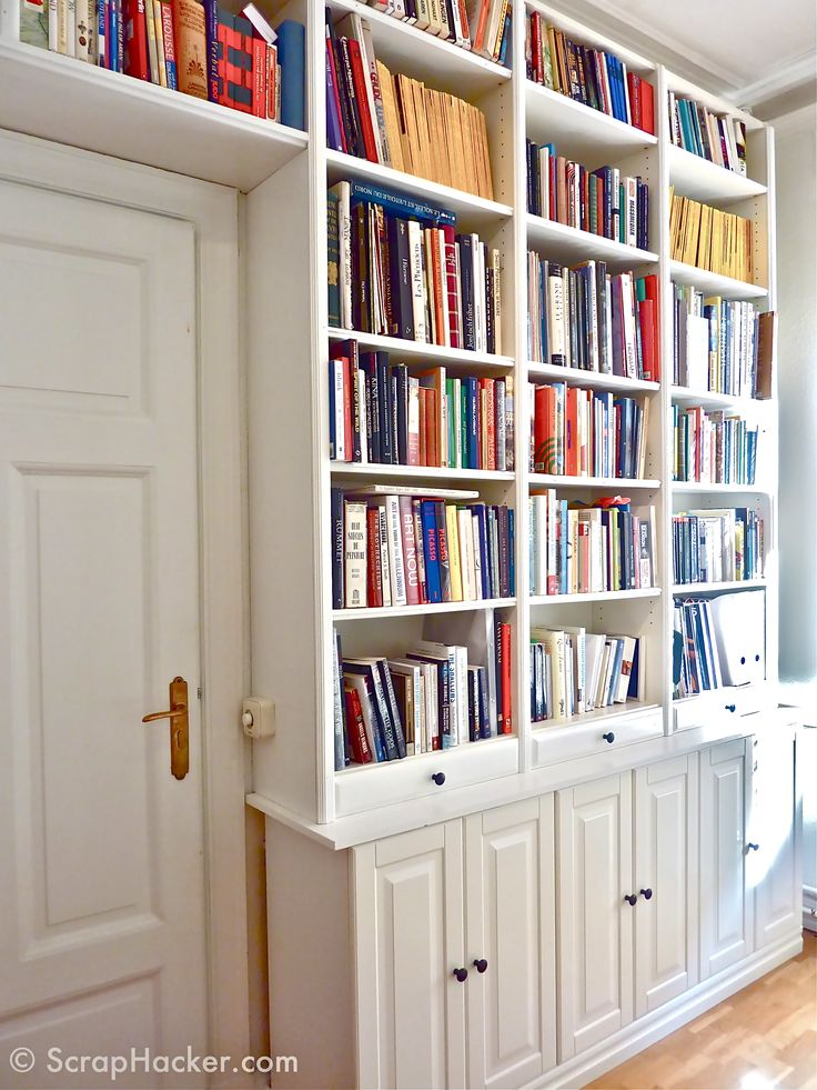 built ins billy bookcase faktum cabinets scrap hacker diy project ideas pinterest. Black Bedroom Furniture Sets. Home Design Ideas
