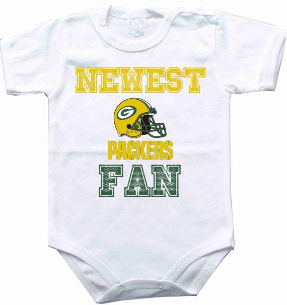 Baby bodysuit Newest fan Green Bay Packers football NFL One Piece Bodysuit Funny Baby Onesie Child boy girlen's Clothing Kid's Shower boy
