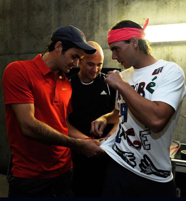 Federer, Agassi and Nadal
