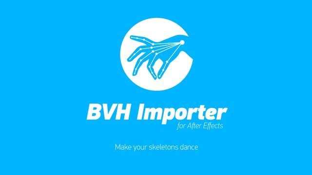 "BVH Importer allows parsing joint skeleton structures and accompanying motion data, and transforming them into Solid/Null based skeleton animation for use in After Effects. The goal of this tool is to use motion capture on an avatar, or an articulated figure, which could be the first step in creating real world motion gestures in After Effects.  Available on www.rendertom.com and aescripts.com/bvh-importer  BVH Importer not only supports ""standard"" ZXY Euler rotations, but goes beyond th..."