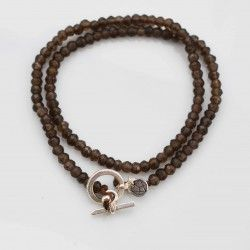 Smoky Quarz Wickelarmband