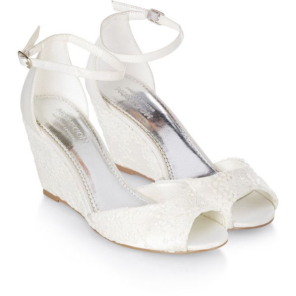 monsoon amber lace bridal wedge sandal 158 liked on polyvore featuring shoes
