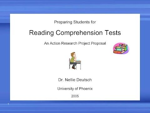 reading comprehension action research paper This action research project report documents the action research project that was conducted to improve reading comprehension with.