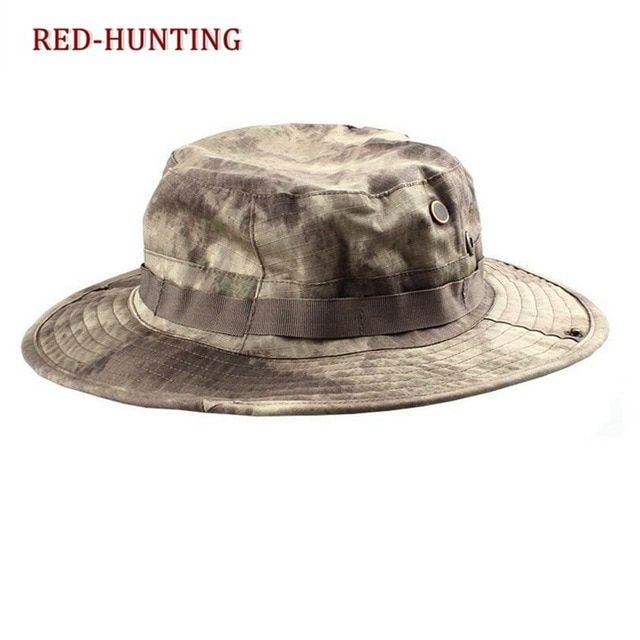 17e25edf136 Tactical Airsoft Sniper Camouflage Boonie Hats Nepalese Cap Militares Army  American Military Accessories Hiking A-tacs FG Review