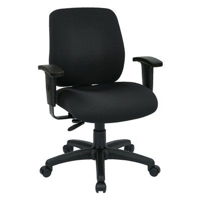 Office Star Work Smart Mid-Back Desk Chair Upholstery: Crave - Charcoal/Graphite, Arms: Not Included