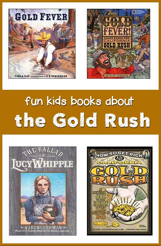 RESOURCE THE GOLD RUSH BOOKS - some books that can be used as part of class lesson plans on the gold rush to explain to the children what happened during the gold rush years.