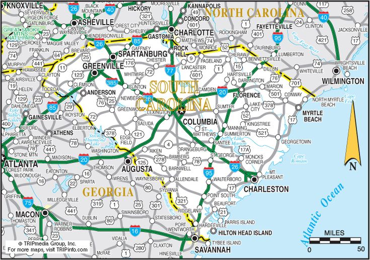 Map of South Carolina Beaches   Add this Map to Your Site   Print Map as a PDF