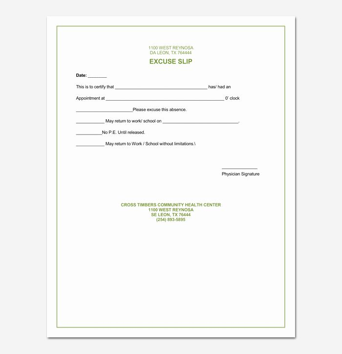 Return To Work Doctor Note In 2020 Doctors Note Template