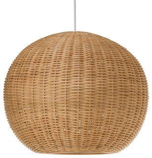 Wicker Ball Pendant Light - beach style - pendant lighting - by KOUBOO