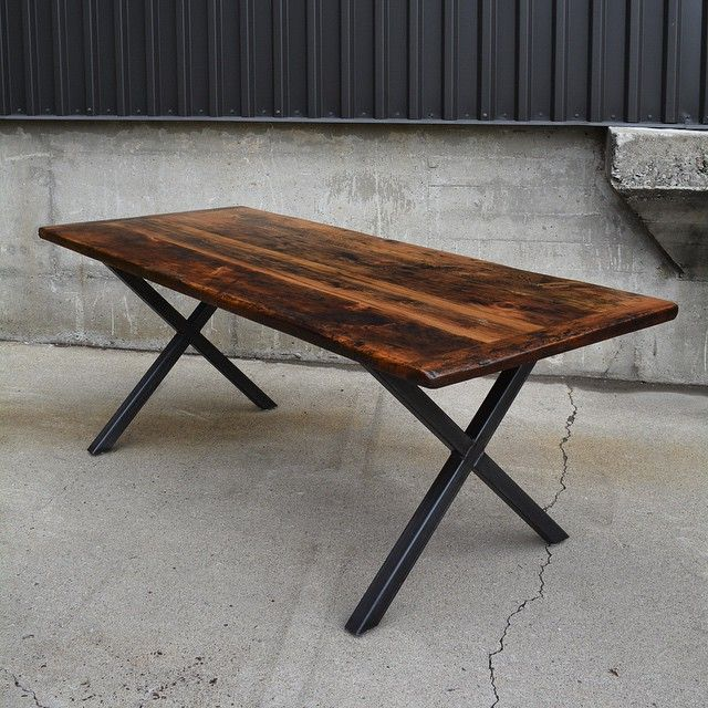 X table base with a reclaimed wood epoxy top. www.lushwoodcraft.ca - Thu Sep 17 2015 09:34:37 GMT-0400 (EDT)