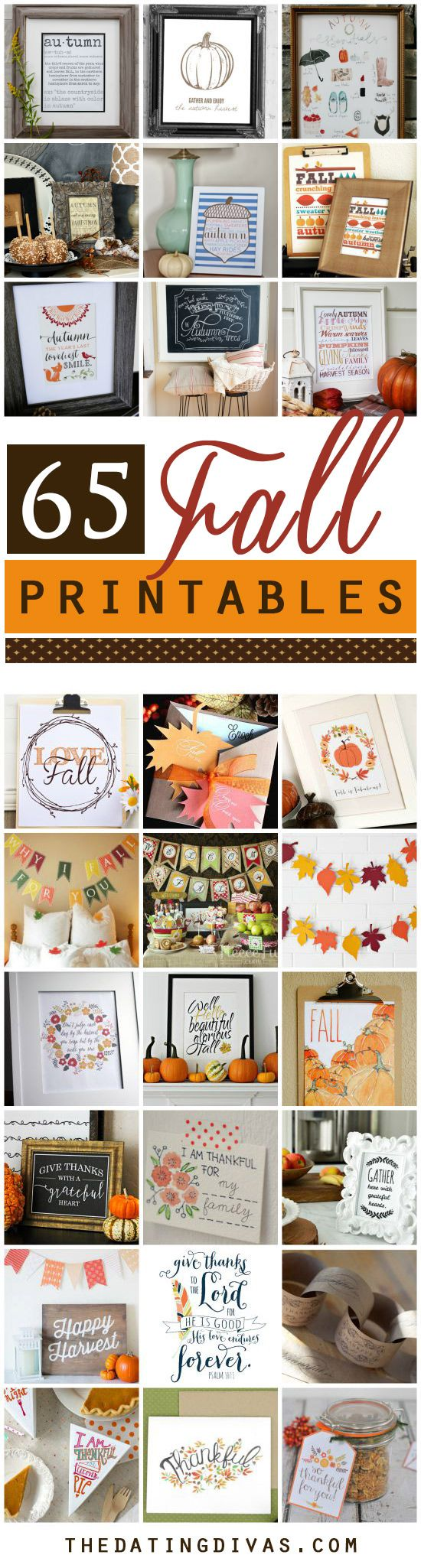 Tons of Fall Printables to make decorating so easy!