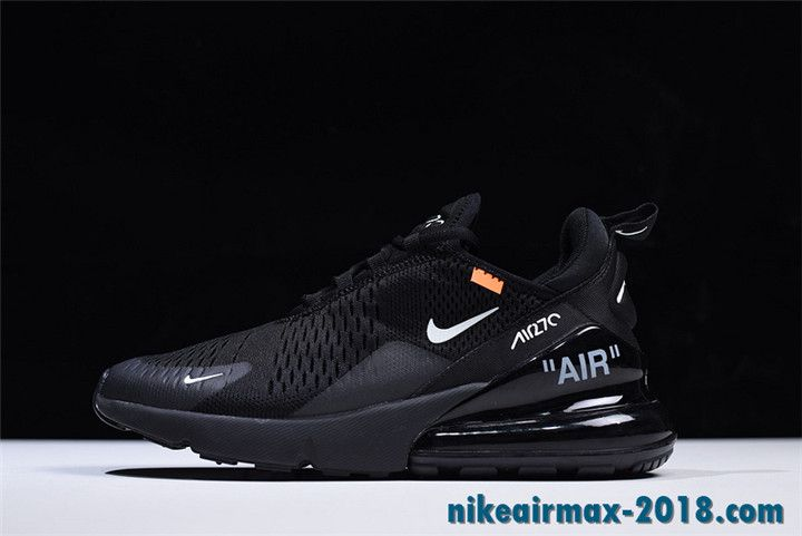 Off White X Nike Air Max 270 Summer Women S Running Shoe Black Nike Air Max Running Shoes For Men Black Running Shoes