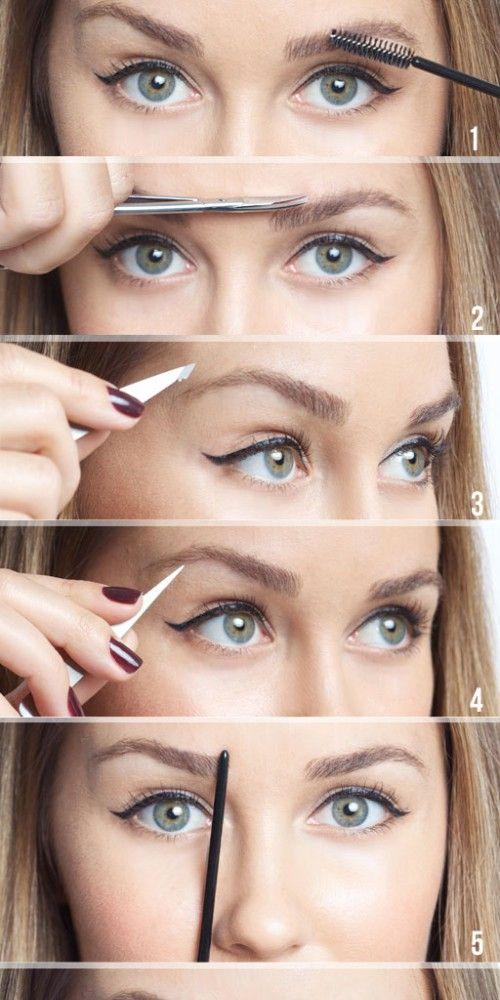 Perfekte Augenbrauen zupfen. So geht es ganz einfach! Das ist echt eine super Anleitung zum Augenbrauen zupfen