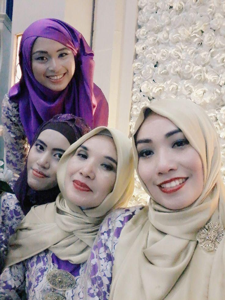 with sisterhood at yoga's wedding reception