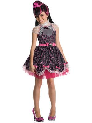 #MonsterHigh Draculaura Girl's #fancydress Costume. Become draculas daughter with this great costume from fancy dress fast