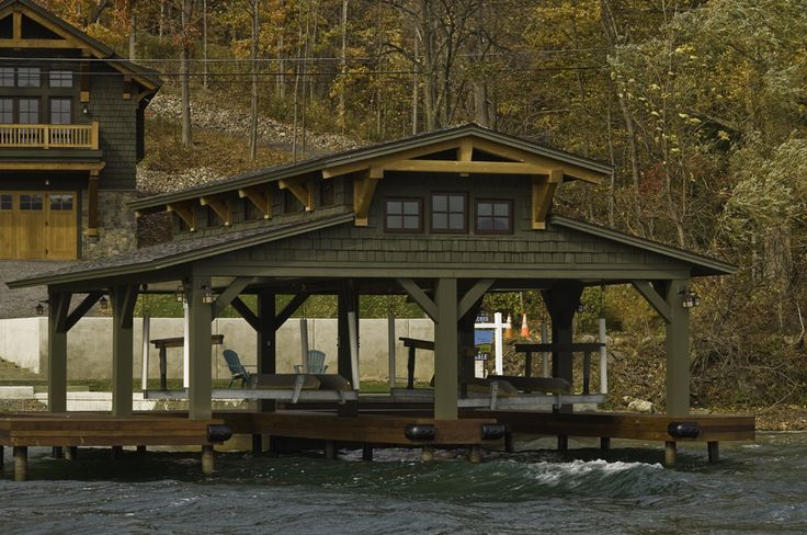 japanese timber frame plans | Residential boat dock pavilion on Canandaigua Lake. | chinese wood ...
