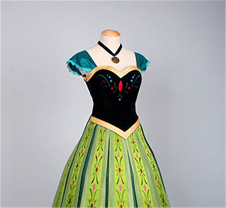 Frozen Anna Dress Frozen Fancy Dress Clothing For Party Custom made New Edition Deluxe Princess Elsa Dress from Frozen-in Costumes from Appa...