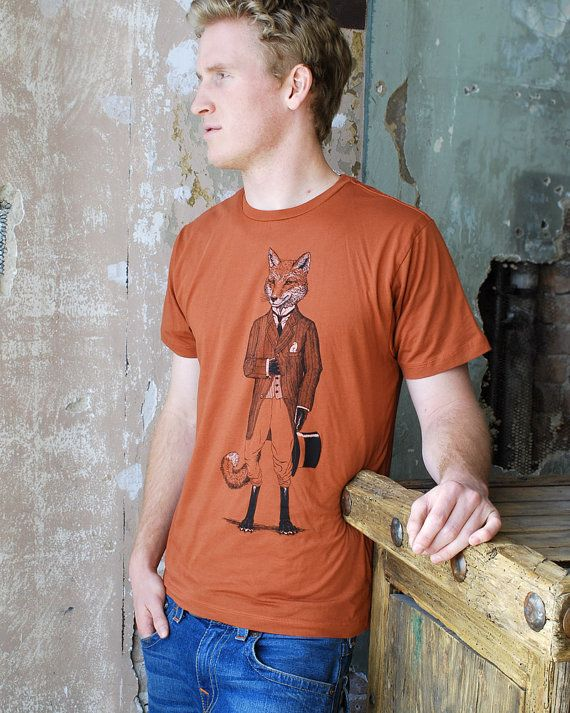 Hey, I found this really awesome Etsy listing at http://www.etsy.com/listing/94856706/dapper-fox-t-shirt-on-rust-mens-animal-t