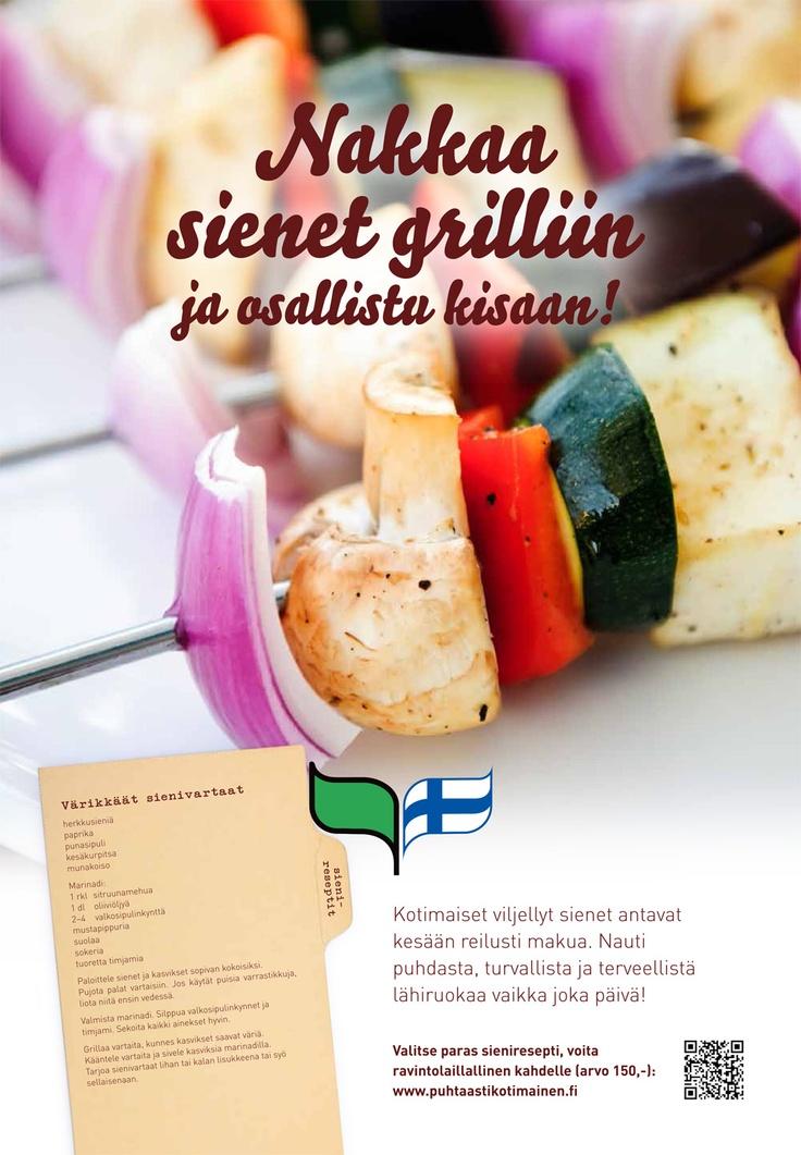 Puhtaasti kotimainen - Nakkaa sienet grilliin! 2013
