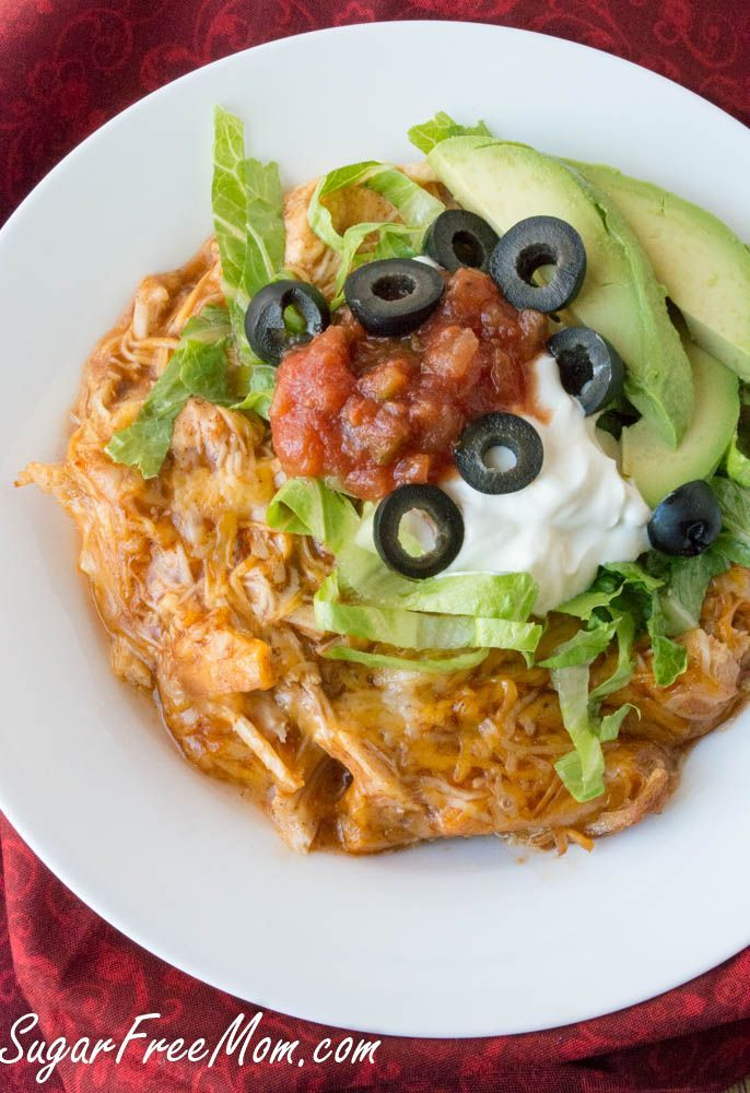 Chicken Enchilada Cauliflower Casserole Low Carb And Grain Free