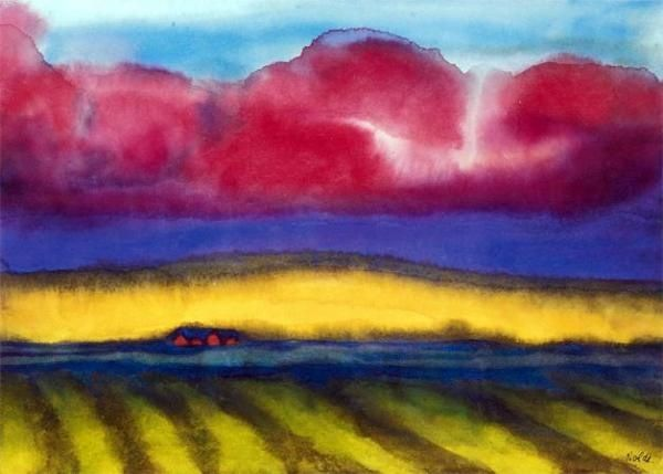 Emil_Nolde_marsh with farm Rule of thirds: