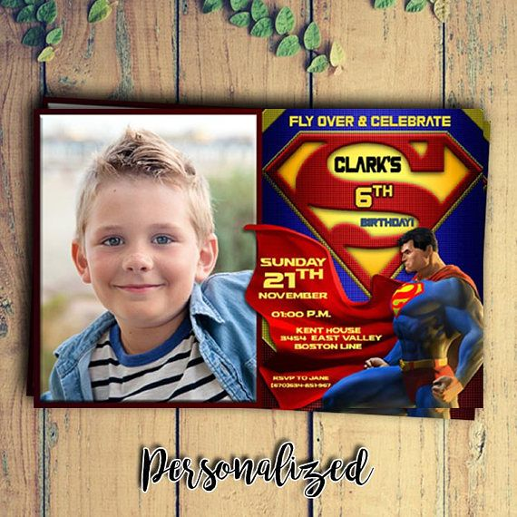 Superman Birthday Invitations with Photo/Superman Invitations Photo/Superman Birthday Invitations/Superman Birthday Party/Superman Birthday This is not Instant Download, We will edit for you, because you can not edit. All information on the invitation can be customized however
