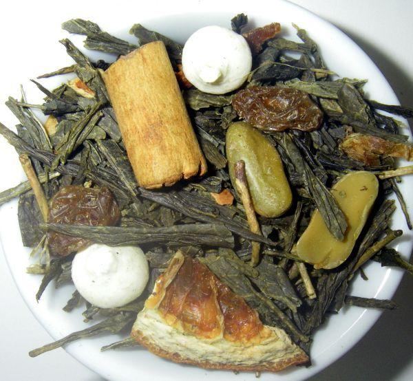 """Nuestro té verde """"Besos Robados"""" con mandarina, canela, pistachos..... ¿té apetece probarlo?"""