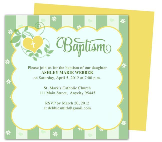 21 best Printable Baby Baptism and Christening Invitations images - invitation template publisher