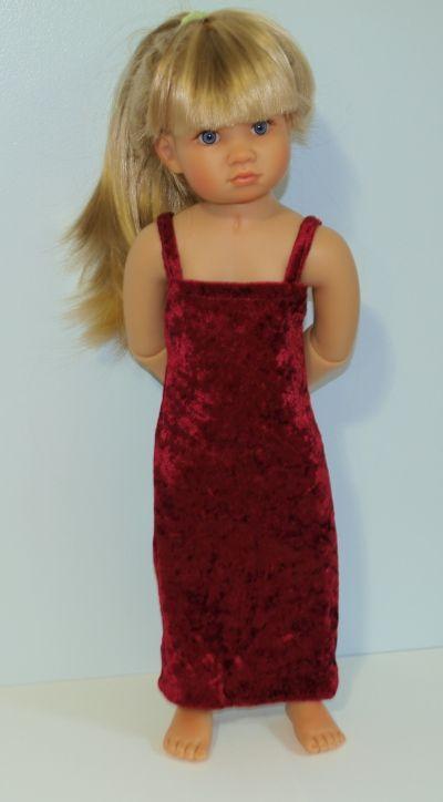 $6 Burgundy velvet dress- handmade - only 1