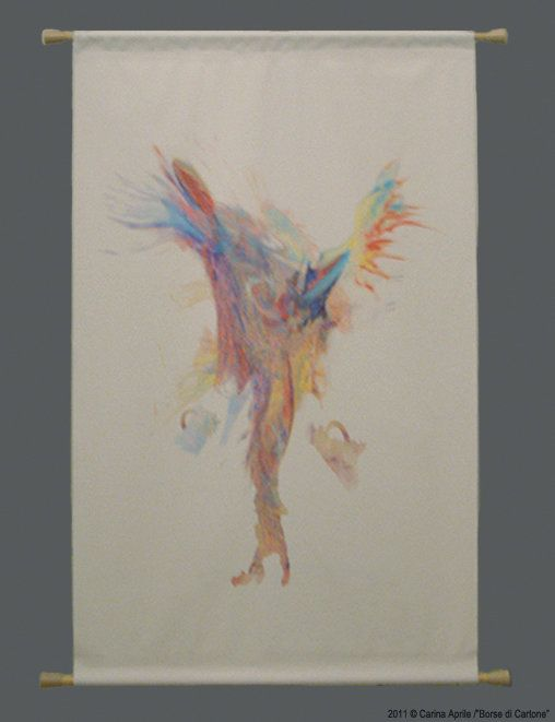 "Carina Aprile,""BORSE DI CARTONE"" Painting on Canvas"