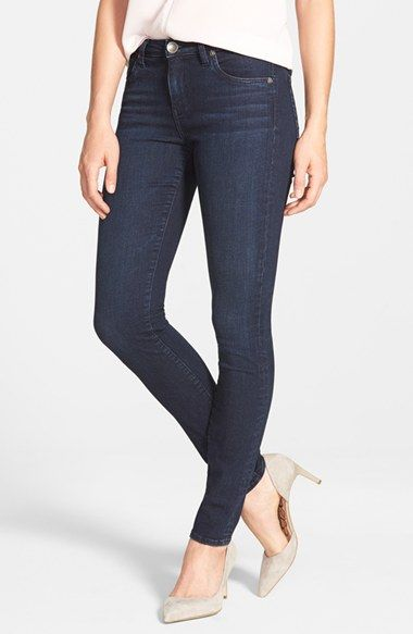 KUT from the Kloth 'Diana' Stretch Skinny Jeans (Duty) (Regular & Petite) available at #Nordstrom