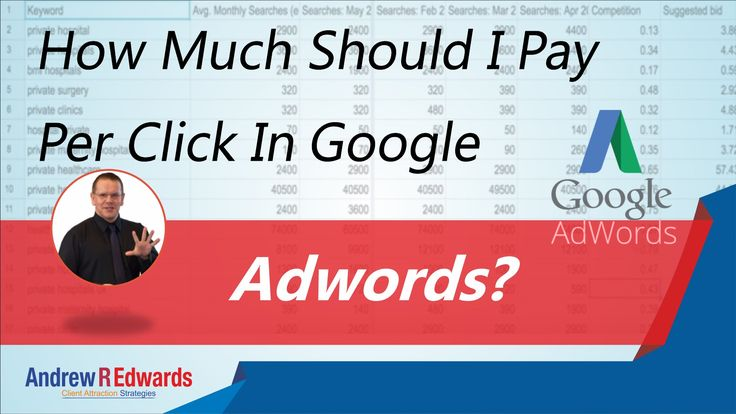 How much should I pay per click in Google Adwords?