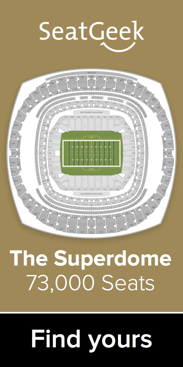 The best deals for Saints tickets are on SeatGeek!