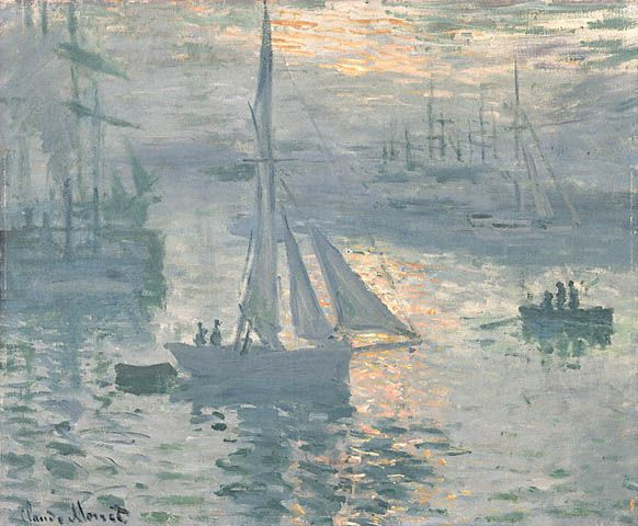 Sunrise, The Sea, 1873 - Claude Monet (French, 1840-1926) Impressionism