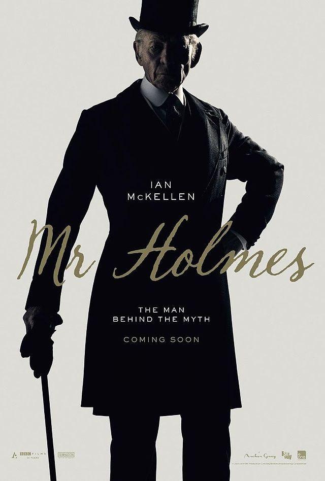 Mr. Holmes, 2015 film about an elderly Sherlock Holmes, starring Sir Ian McKellan.>> *high-pitched screeching*