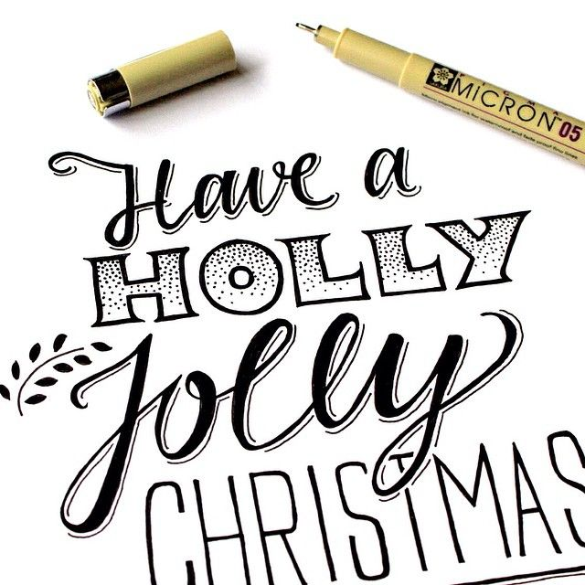 Have a holly jolly christmas #lettering #drawing #handlettering #paperfuel