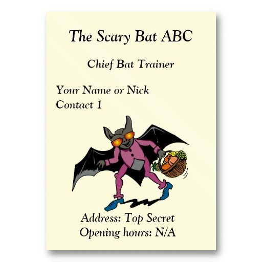Chief Bat Trainer business Card #businesscards