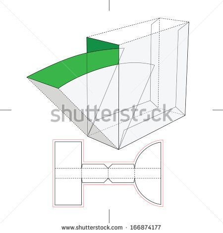 """Box with take-one flop  http://www.shutterstock.com/s/""""packaging template""""/search.html?page=1"""