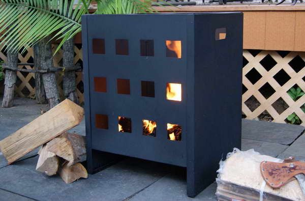 outdoor fire pit kits with firewood